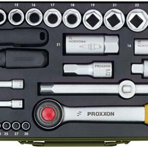 """23040 Set di chiavi a bussola da 1/4"""" e da 1/2"""" 56 pz Proxxon ( SPEDIZIONE GRATIS )"""